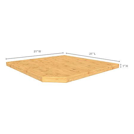 Bold 3.0 & Performance 2.0 Corner Bamboo Top (21 x 21 x 1)