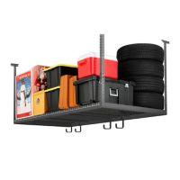 NewAge 40165 VersaRac 4-Feet x 8-Feet Adjustable Ceiling Storage Rack w/ Hooks