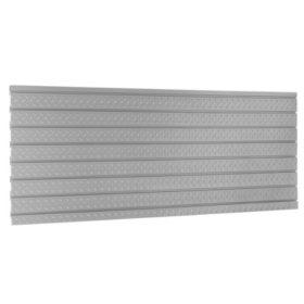 NewAge Products 84 in. Diamond Plate Silver Slatwall Backsplash