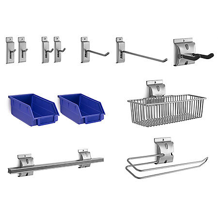 NewAge Products Bold 3.0 12-Piece Steel Slatwall Accessory Kit