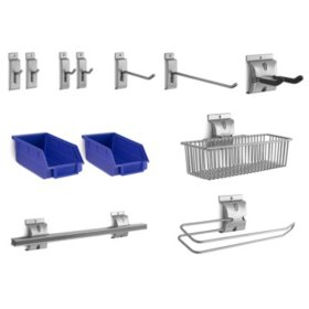 NewAge Products Bold 3.0 12-Piece Steel Slatwall Accessory Kit