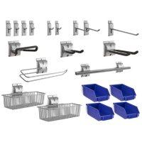 NewAge Products Bold 3.0 20-Piece Steel Slatwall Accessory Kit
