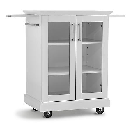 Newage Products Home Bar Rolling Cart White Sam S Club
