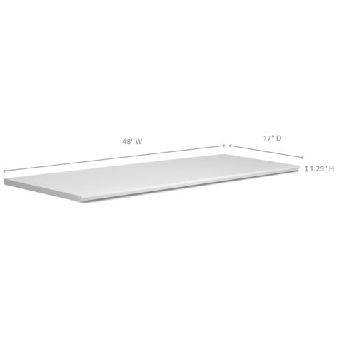 """NewAge Products Home Bar 17"""" x 48"""" Countertop (White)"""
