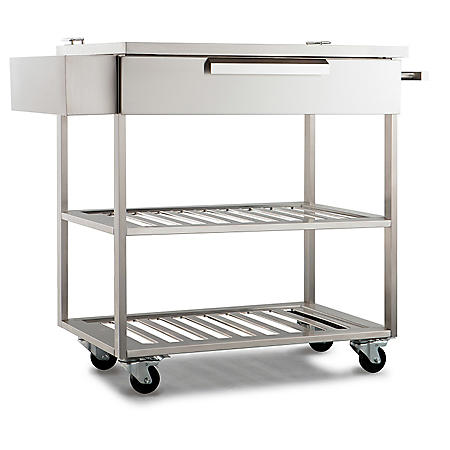 Newage Products Outdoor Kitchen Cabinet Stainless Steel Bar Cart