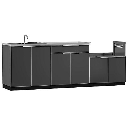 NewAge Products Outdoor Kitchen Cabinet Aluminum 4-Piece Set ...