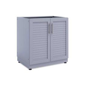 """NewAge Products Outdoor Kitchen 32"""" 2-Door Aluminum Slate Cabinet"""