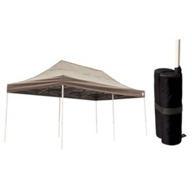 Ft Pop Up Canopy With Anchor Bags Desert Bronze