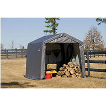 Shed-in-a-Box 10x10x8 ft. Peak Storage Shed-Gray