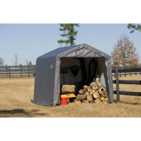 Shed-in-a-Box 10' x 10' x 8' Peak Storage Shed - Gray