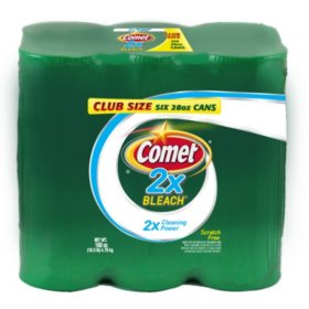 Comet 2X Bleach Powder Cleanser (28oz., 6pk.)