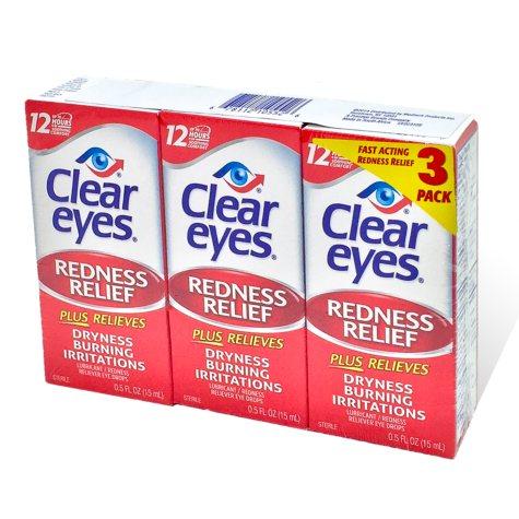 Clear Eyes Eye Drops (0.5 oz., 3 pk.)