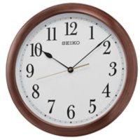 "Seiko 16"" Arabic Numbered Wooden Finish Wall Clock"