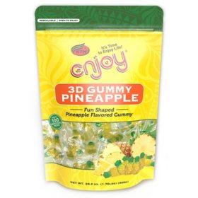 3D Gummy Pineapple (28.2 oz., 100 ct.)