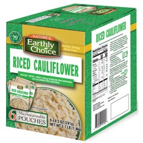 Nature's Earthly Choice Riced Cauliflower (8.5 oz., 6 pk.)