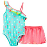 Baby Buns Girls' Swim Suit and Coverup