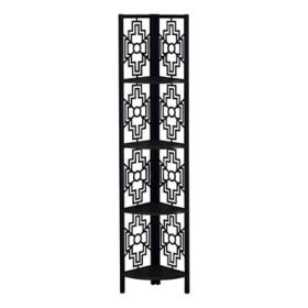 "Bookcase - 62""H Metal Corner Etagere, Assorted Colors"