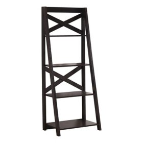 "Bookcase - 60""H Ladder With 4 Shelves, Assorted Colors"