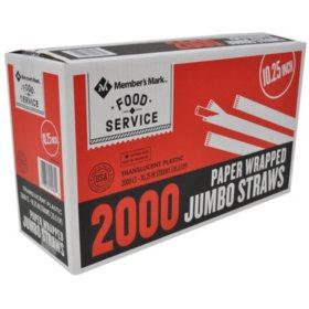 Member's Mark Wrapped Jumbo Straws (2,000 ct.)