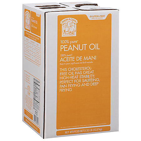 Bakers & Chefs 100% Pure Peanut Oil (35 lbs.)