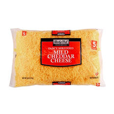 Daily Chef Fancy Mild Cheddar Shredded Cheese - 5 lbs.
