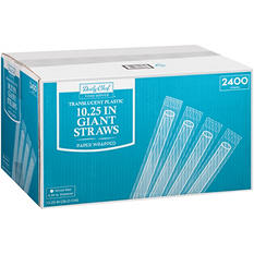 Member's Mark Translucent Giant Plastic Straws, Wrapped (2400 ct.)