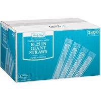 Member's Mark Translucent Giant Plastic Straws, Wrapped (2400 ct.)