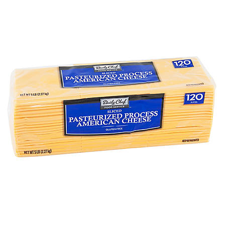 Daily Chef American Cheese Slices (5 lbs.)