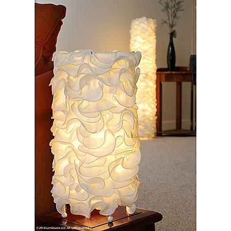 Lace Contemporary Table Lamp in Cream
