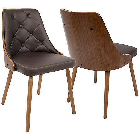 Gianna Mid-Century Modern Chair in Faux Leather (Assorted Colors)