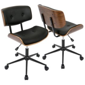 Lombardi Mid-Century Modern Adjustable Office Chair (Assorted Colors)