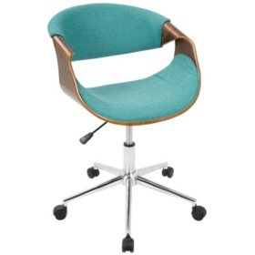 Curvo Mid-Century Modern Office Chair (Assorted Colors)