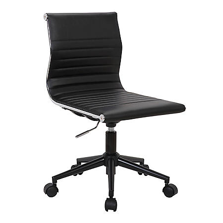 Masters Industrial Task Chair with Black Base and Faux Leather (Assorted Colors)