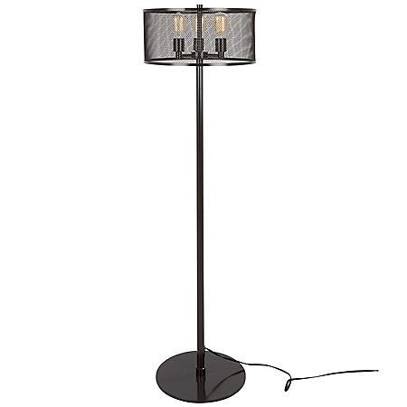 Indy Mesh Industrial Floor Lamp in Antique