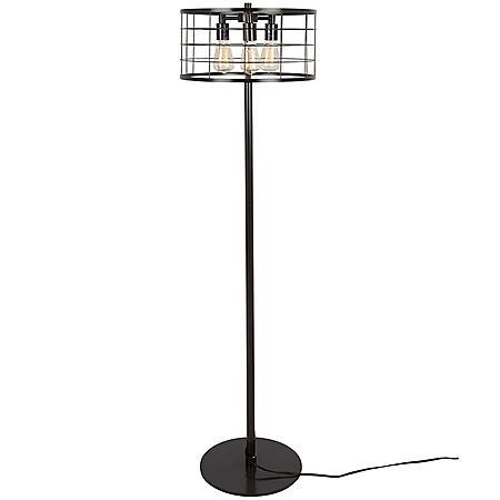 Indy Wire Industrial Floor Lamp in Antique