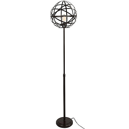 Linx Industrial Floor Lamp in Antique