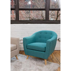 Rockwell Mid Century Modern Accent Chair Assorted Colors
