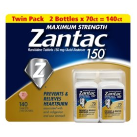 Zantac 150 Maximum Strength Heartburn Relief & Acid ReducerTablet (140 ct.)