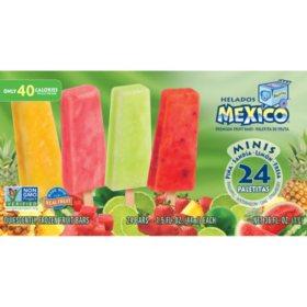 Helados Mexico Premium Mini Fruit Bars (24 ct.)