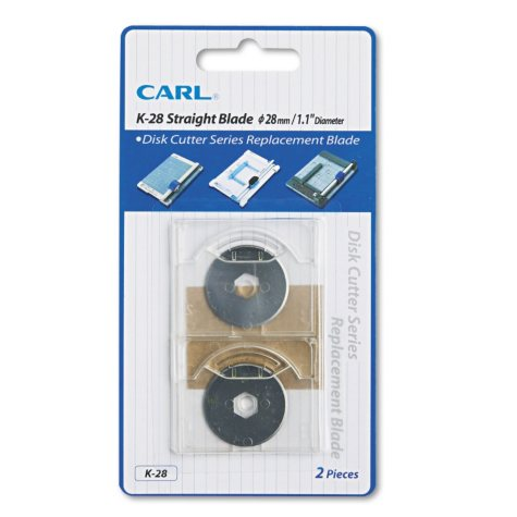 CARL - Bidex Replacement Straight Blades for Heavy-Duty Rotary Trimmers, 2 Pack