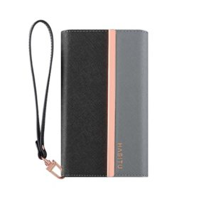 HABITU iPhone 11 - Eris Tri-Fold Wallet Case - Vegan Leather 2-in-1 Magnetic Folio with Removable Case & Card Pockets (Choose Color)