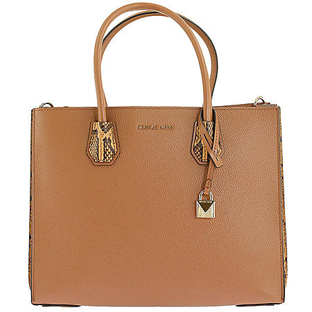 42fd91c87e0114 Mercer Large Pebbled and Embossed Leather Accordion Tote by Michael Kors