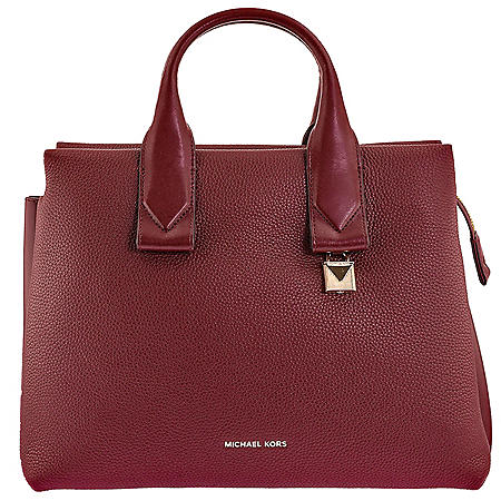 78594465f8fe Rollins Large Pebbled Leather Satchel by Michael Kors - Sam's Club