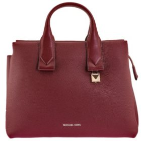 Rollins Large Pebbled Leather Satchel by Michael Kors