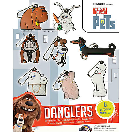 "2"" The Secret Life Of Pets 2D Danglers Capsules (250 ct.)"