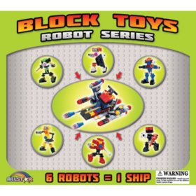 "6-in-1 Block Toys in 2"" Capsules"
