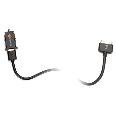Griffin PowerJolt Micro Auto Adapter for iPad, iPhone, and iPod - 10 watt