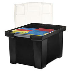"Storex"" File Tote with Snap-On Lid"