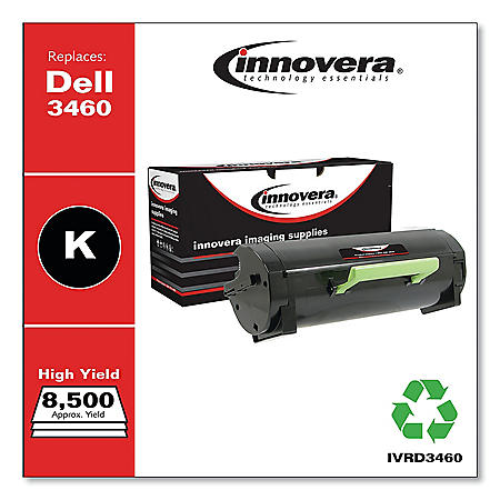 Innovera Remanufactured Black High-Yield Toner Cartridge, Replacement for Dell B3460 (3319806), 8,500 Page-Yield