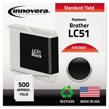 Innovera® Remanufactured LC51BK Ink, Black